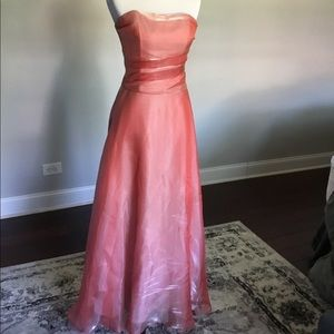 3pc Coral Evening Dress sz 4